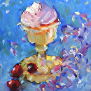 Just For You by Karen Meredith Oil ~ 8 x 8