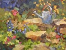 Sweet Garden by Karen Meredith Oil ~ 8 x 10