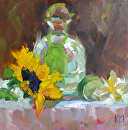 Tequila Sunrise by Karen Meredith Oil ~ 8 x 8