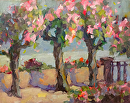 Flowered Promenade by Karen Meredith Oil ~ 8 x 10