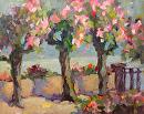 Flowered Promenade by Karen Meredith Oil ~ 8 x 10
