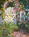 Arbor Gate by Karen Meredith Oil ~ 10 x 8