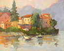 Lake Como View by Karen Meredith Oil ~ 8 x 10