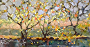 Ode to Autumn by Karen Meredith Oil ~ 5 x 10