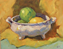 Lemon and Limes by Karen Meredith Oil ~ 8 x 10