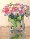 Soft Roses by Karen Meredith Oil ~ 14 x 11
