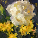 Madrigal by Karen Meredith Oil ~ 6 x 6