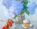 Rhapsody in Blue by Karen Meredith Oil ~ 11 x 14