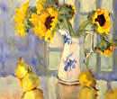 Sunflowers and Pears by Karen Meredith Oil ~ 20 x 24