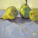 Trio by Karen Meredith Oil ~ 6 x 6
