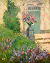 Flowered Entry by Karen Meredith Oil ~ 14 x 11