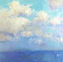Bald Head Sky by Karen Meredith Oil ~ 6 x 6