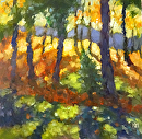 Woodland Shadows by Karen Meredith Oil ~ 12 x 12