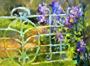 Iron Gate by Karen Meredith Oil ~ 8 x 10