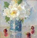 Soft White by Karen Meredith Oil ~ 12 x 12