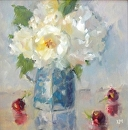 Soft White by Karen Meredith Oil ~ 12 x 12