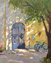Dappled Gateway by Karen Meredith Oil ~ 14 x 11