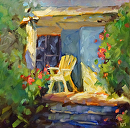 Tropical Shade by Karen Meredith Oil ~ 12 x 12