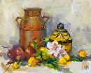 A Few Good Things by Karen Meredith Oil ~ 8 x 10