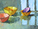 Empty Bowls by Karen Meredith Oil ~ 8 x 10