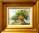 Lake Como Bouquets by Karen Meredith Oil ~ 8 x 10