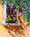 Window Shadows by Karen Meredith Oil ~ 10 x 8