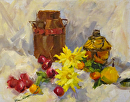 Fruits, Flowers, and Finds by Karen Meredith Oil ~ 11 x 14