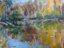 Late Autumn by Karen Meredith Oil ~ 11 x 14