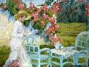 Tea Time by Karen Meredith Oil ~ 11 x 14