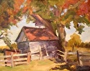 Old Shed by Karen Meredith Oil ~ 11 x 14