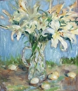 Burst of Lilies by Karen Meredith Oil ~ 24 x 20