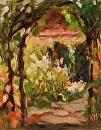 Garden Chapel by Karen Meredith Oil ~ 10 x 8
