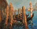 Venetian Verticals by Karen Meredith Oil ~ 8 x 10