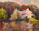 Lake House by Karen Meredith Oil ~ 8 x 10