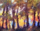 Through the Trees by Karen Meredith Oil ~ 8 x 10