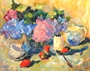 Summertime Tea by Karen Meredith Oil ~ 24 x 30