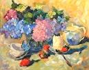 Summertime Tea by Karen Meredith Oil ~ 24 x 30