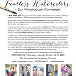 Jan Guarino - Fearless Watercolors ~ The Landgrove Inn