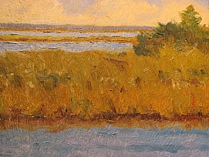 Apalachicola River by Jill Quadagno Oil ~ 9 x 12