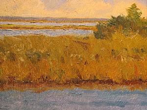 Apalachicola River by Jill Quadagno Oil ~ 9 x 12
