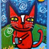 """Cafe Kitty Cat-Scarlett""-ACEO"