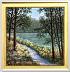 Lake Blooms framed by Christine Drewyer