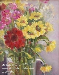 Yellow  Daisies by Michele Combs  ~ 12 x 9