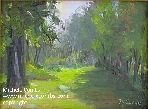Evening Light Aitkin by Michele Combs Oil ~ 6 x 8