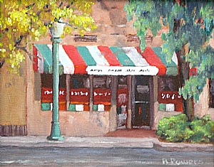 "Fillipi's Escondido by Richard T Powers Oil ~ 8"" x 10"""