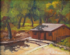 "Lake Dixon by Richard T Powers Oil ~ 8"" x 10"""