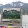 Painting in Juneau, Alaska in 2014.