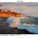 The Centerpiece Gallery - Calvin Liang - Landscape Paintings in the Studio