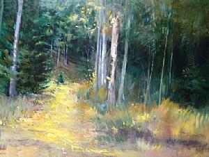 Fallen Gold by Mary Maxam Acrylic ~ 36 x 48