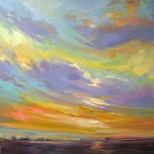 Summer Sky by Mary Maxam Oil ~ 24 x 24